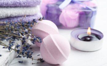 salle de bain zen et naturelle à la lavande